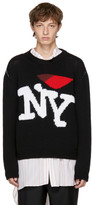 Raf Simons Black 'I Love NY' Sweater