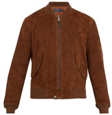 Polo Ralph Lauren Baseball-collar suede bomber jacket