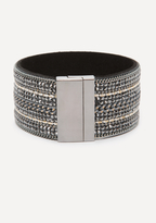 Bebe Crystal & Chain Cuff