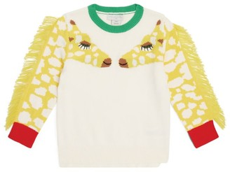 Stella McCartney Fringed Giraffe Sweater