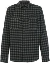 A.P.C. long-sleeved plaid shirt