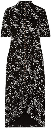 See by Chloe Ruched Floral-print Stretch-jersey Dress