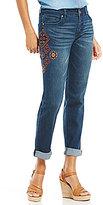 Code Bleu Gracie Multi Color Embroidered Detailed Boyfriend Jeans