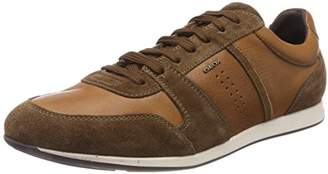 Geox Men's U Clemet A Low-Top Sneakers, Brown (Cognac/browncotto)