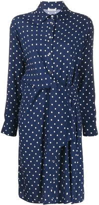 P.A.R.O.S.H. Twisted Polka Dot Shirt Dress