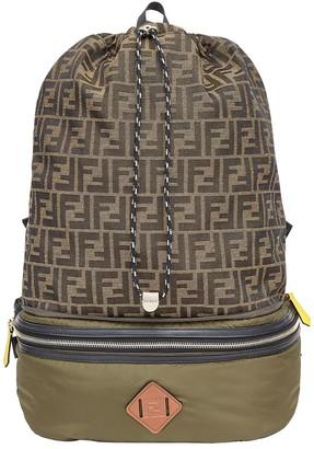 Fendi Convertible Logo-Print Backpack