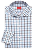 Isaia Tattersall Plaid Dress Shirt