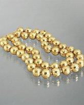 M+J Savitt gold polished double layered necklace