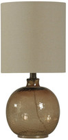 clear Round Table Lamp, Amber Mist