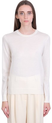 Tory Burch Updated Iberia Knitwear In White Cashmere