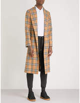 Burberry Heritage-check wool trench coat