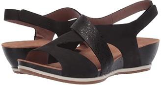 Dansko Vicky (Black Milled Nubuck) Women's Sandals