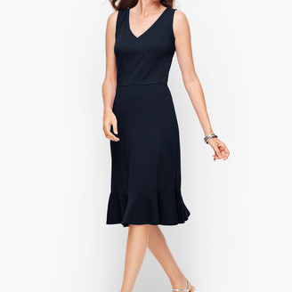 Talbots Flounce Hem Fit & Flare Dress