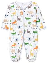 Kissy Kissy White Safari Animal Print Babygrow