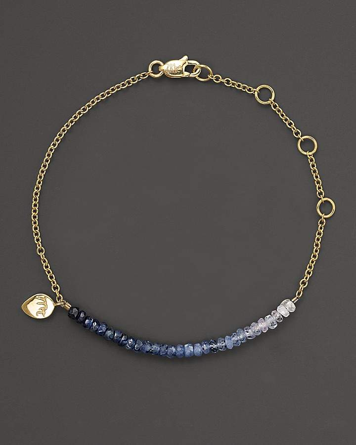 Meira T Blue Sapphire and 14K Yellow Gold Bracelet