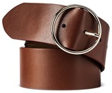 Mossimo Women's Wide Width Circle Buckle Belt Brown