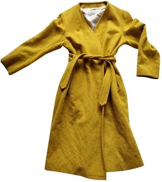 Dries Van Noten Yellow Wool Coats