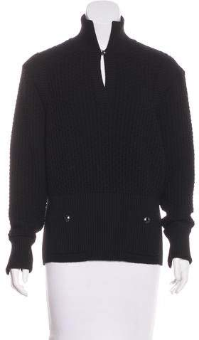 Chanel Textured Wool Sweater