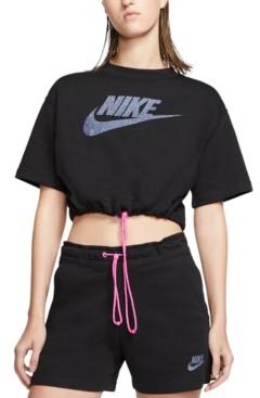 Nike Women's Sportswear Icon Clash Cropped Top