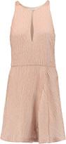 Halston Beaded crepe mini dress