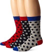 Ben Sherman Men's 3 Pack Frederick Crew Socks