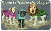 """Bacova Home is Where the Dog is"""" 17.5-Inch x 29-Inch Kitchen Mat in Grey"""