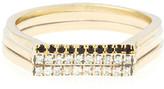 Lori Kaplan Jewelry - Diamond Gold Skinny Stacking Ring