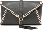 Milly Astor Contrast Whipstitch Clutch