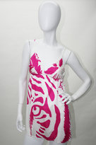 Silk Jersey Tiger Print Slip Top in Hot Pink