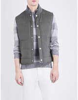 Brunello Cucinelli Quilted Wool And Silk-blend Gilet