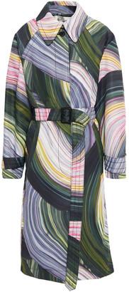 Diane von Furstenberg Patina Printed Twill Trench Coat