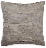 "Donna Karan Home Reflection Silver 18"" Square Decorative Pillow"