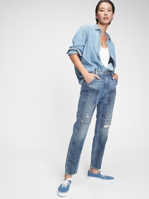 Gap Workforce Collection High Rise Distressed Jeans