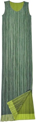 Pleats Please Green Polyester Dresses
