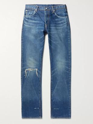 Visvim Social Sculpture 16 Damaged-25 Distressed Denim Jeans