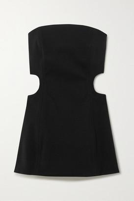 Georgia Alice Lucia Strapless Cutout Crepe Mini Dress - Black