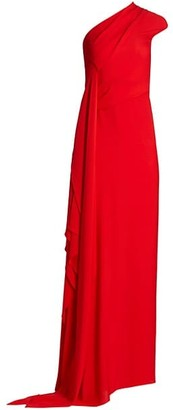 Roland Mouret Taishan Georgette One-Shoulder Gown
