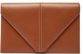 Hunting Season The Envelope Leather Clutch Bag - Tan