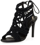 Joie Aria Woven Strappy Sandal, Black
