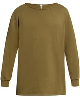 Loewe Destroyed-neck Long-sleeved Cotton T-shirt