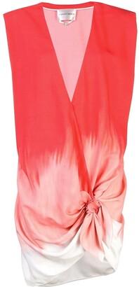 CARMEN MARCH Gradient Knot Blouse Dress