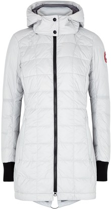 Canada Goose Ellison light grey quilted shell jacket