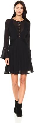 ASTR the Label Women's Katrina Lace Bell Sleeve Shift Dress