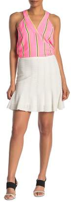 Rachel Roy Linear Lace Knit Mini Skirt