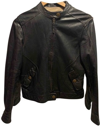 Chevignon Brown Leather Jacket for Women