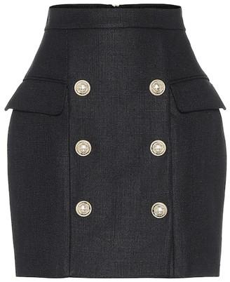 Balmain High-rise miniskirt