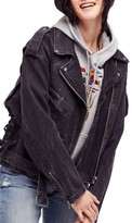 Free People Women's Oversize Denim Moto Jacket