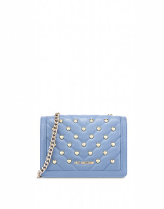 Love Moschino Shoulder Bag Love And Studs Woman Blue Size U It - (one Size Us)