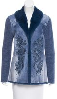 Escada Fur-Trimmed Embroidered Jacket