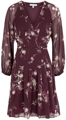 Joie Korel Floral-print Chiffon Dress